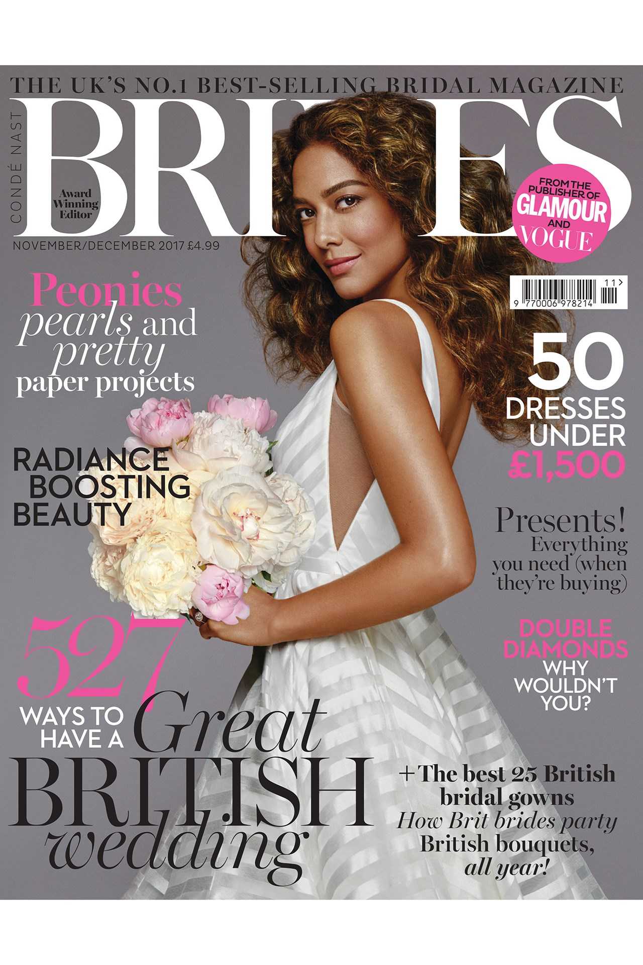 November/December 2017 cover of UK Brides magazine mentioning Epilium Skin